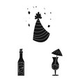 design of party and birthday symbol set of vector image vector image