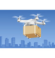 drone delivery technology vector image