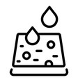 drops analysis icon outline style vector image vector image