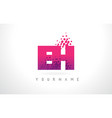 eh e h letter logo with pink purple color and vector image vector image