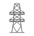electricity tower icon vector image vector image
