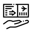 flight ticket icon outline vector image vector image