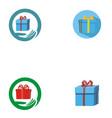 gift logo background vector image