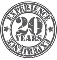 grunge 20 years of experience rubber stamp