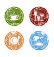 Grunge Food Labels vector image vector image