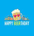 happy beerthday greeting card or print