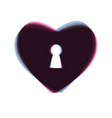 heart with lock sign colorful icon shaked vector image vector image