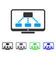 hierarchy monitor flat icon vector image vector image