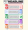 infographic five step template process vector image vector image