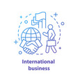 international business concept icon vector image