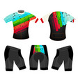 joyful colors sports t-shirt vector image vector image