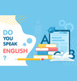 learn english thin line vector image vector image