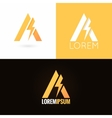 letter A logo design icon set background vector image