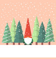 little santa claus with christmas tree vector image vector image