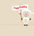 Lovely sheep with signboard vector image vector image