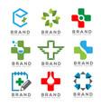 medical logo concept set vector image vector image