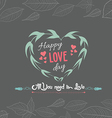 mothers day with heart floral vector image vector image