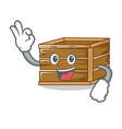 okay crate character cartoon style vector image