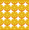 orange fruit seamless white pattern vector image