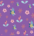 pastel folk floral motifs seamless pattern vector image vector image