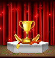 pedestal with awards realistic composition vector image