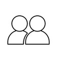 people avatar symbol vector image vector image
