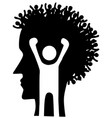 peoples head profile stencil vector image vector image