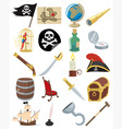 pirate icons vector image vector image