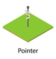 pointer icon isometric style vector image