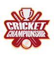 rgbcricket championship badge vector image vector image