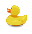 rubber bath duck isolated on white background vector image