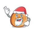 santa bagels mascot cartoon style vector image vector image