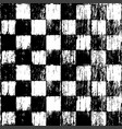 seamless grunge chessboard background vector image