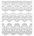 seamless ornamental floral stripes vector image