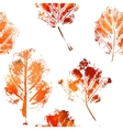 Seamless pattern with imprints of the leaves vector image vector image