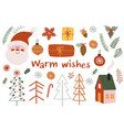 set isolated bohemian xmas elements vector image vector image