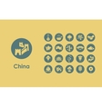 Set of China simple icons vector image vector image