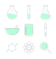 Set of laboratory equipment vector image vector image