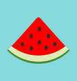 slice of watermelon icon flat style vector image vector image