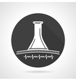Stethoscope black round icon vector image vector image