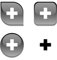 Switzerland glossy button vector image