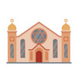 synagogue mosque building religious temple vector image