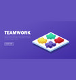 teamwork cooperation and solution concept vector image vector image