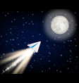telegram cryptocurrency flying to the moon like vector image vector image