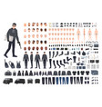 thief burglar or robber diy kit collection of vector image