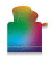toaster simple sign colorful icon with vector image vector image