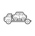 tow truck assistance emergency for car vector image vector image