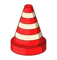 Traffic cone icon cartoon style vector image