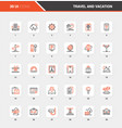 travel and vacation flat line web icon concepts vector image