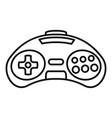 videogame controller icon outline style vector image vector image